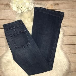 7FAM Flare Utility Denim Jeans LONG